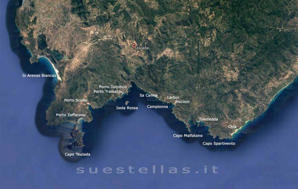 costa del sud con posti più importanti